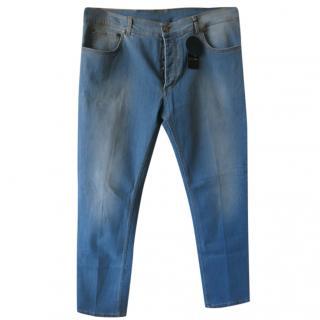 Cesare light blue men's slight stretch jeans