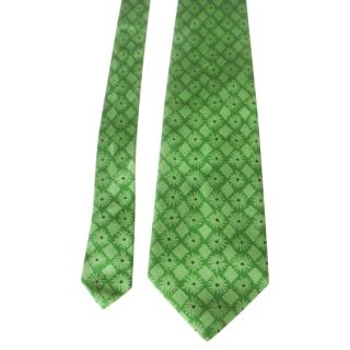 Ungaro Men's Green Silk Printed Tie