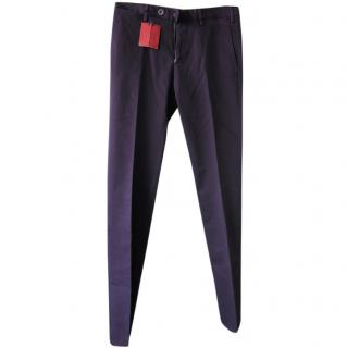 Isaia Purple Tailored Chinos