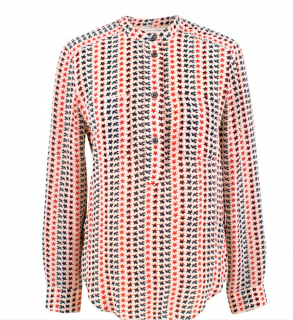 Isabel Marant Etoile Silk Star and Dove Print Blouse