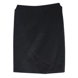 Yves Saint Lauren Vintage Black Pencil Skirt