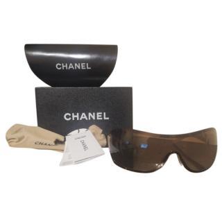 Chanel Large Aviator Brown Sunglasses