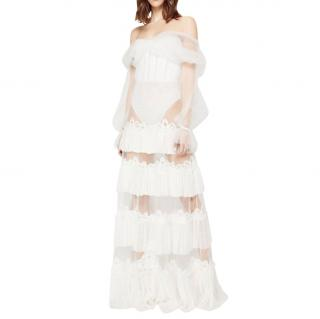 Jonathan Simkhai Ruffled Bodysuit Dress