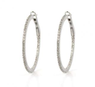 Bespoke White Gold Diamond Set Hoop Earrings