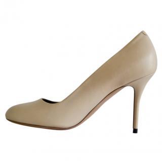 Celine nude leather pumps