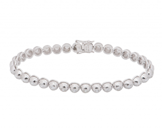 Bespoke White Gold & Diamond Line Bracelet