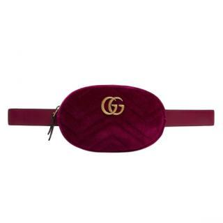 Gucci GG Velvet Marmont Belt Bag