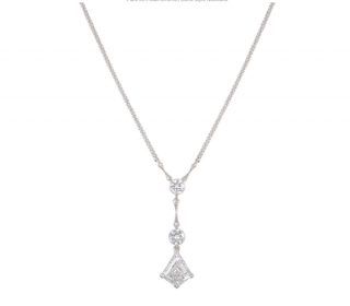 Bespoke Platinum Diamond Art Deco Necklace