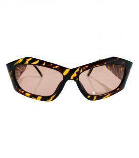 Paloma Picasso Vintage Tiger Stripe plexi sunglasses