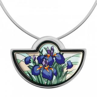Frey Wille Half Moon Iris Pendant Necklace