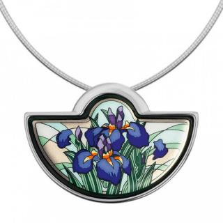Frey Wille Half Moon Iris Pendant Necklace