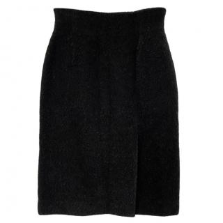 Herve Leger Textured Wool Fitted SKirt