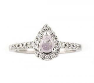 Bespoke Pear Cut Diamond Set White Gold Ring