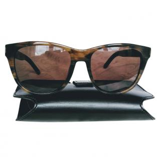 Saint Laurent Tortoiseshell Classic Sunglasses