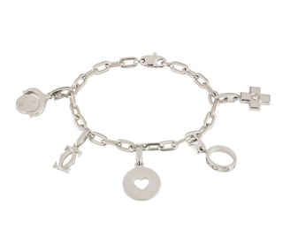 Cartier Charm Bracelet in Gold with Diamonds