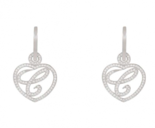 Chopard White Gold Happy Diamonds Earrings