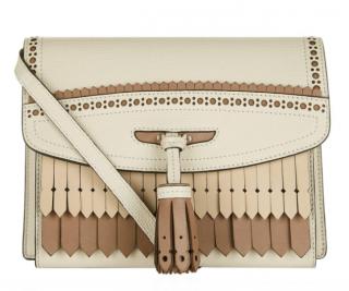 Burberry Fringed Brogue Detail Macken Crossbody Bag