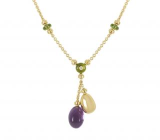 Bvlgari Gold Gemstone Embellished Necklace
