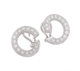 Chopard Diamond Open Hoop Earrings