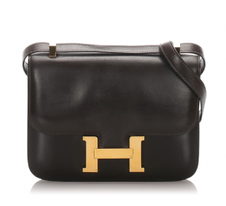 Hermes Black Box Calf Leather Constance 23 GHW