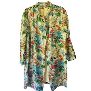La Prestic Ouiston Silk Printed Jacket