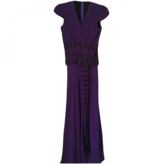 Libelula Purple Embellished Gown