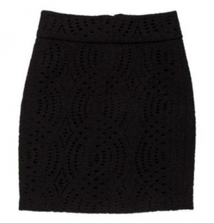 Maje Black Jupe Lace Mini Skirt W/ Tags