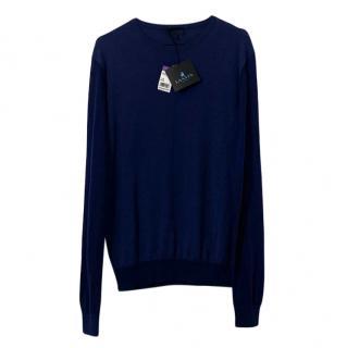 Lanvin silk blend fine knit jumper