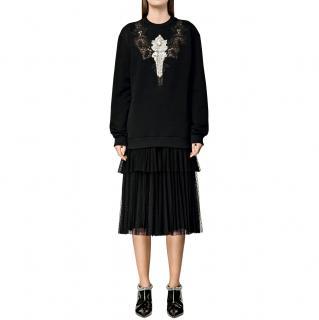 Christopher Kane polka dot tiered pleated skirt