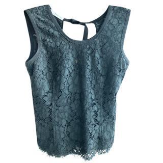 Prada Black Lace Sleeveless Top