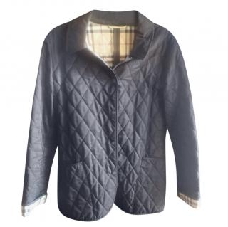 Burberry Blue Diamond Quilted Jacket