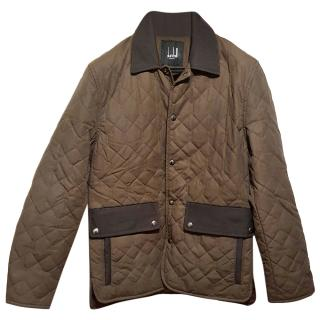 Dunhill quilted brown country jacket