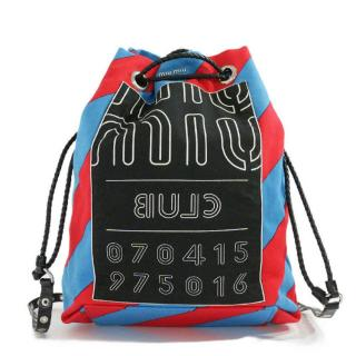 Miu Miu Diagonal Striped Club Backpack