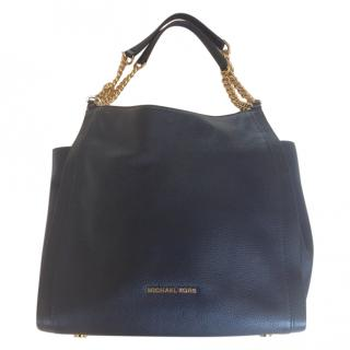 Michael Michael Kors Navy Saffiano Leather Tote Bag