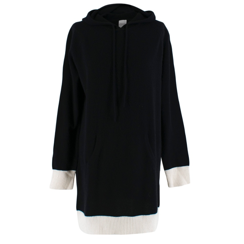 Madeleine Thompson Black/Cream Cashmere Jessie Longline Jumper