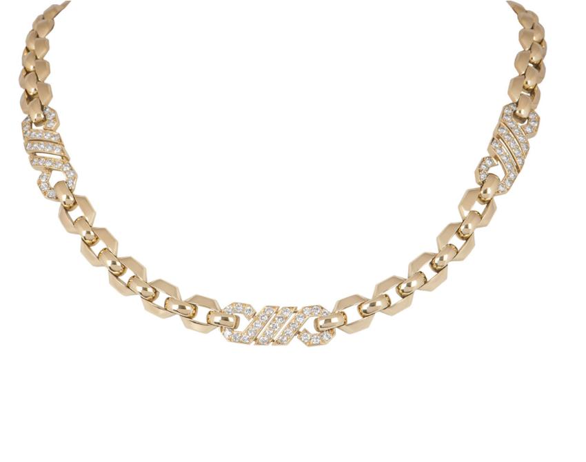 Cartier Diamond & Yellow Gold Necklace