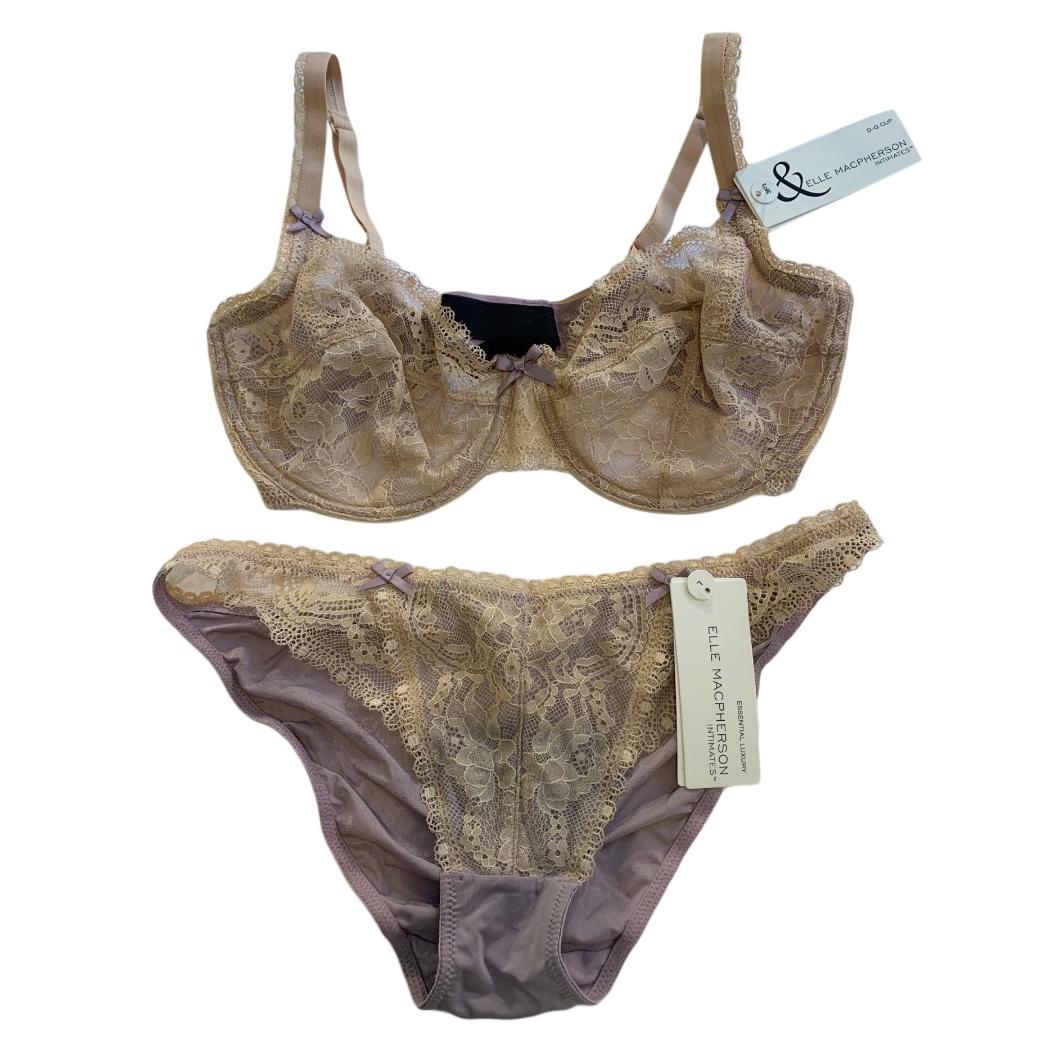 Ellen Macpherson Intimates American Nude Lace Lingerie Set