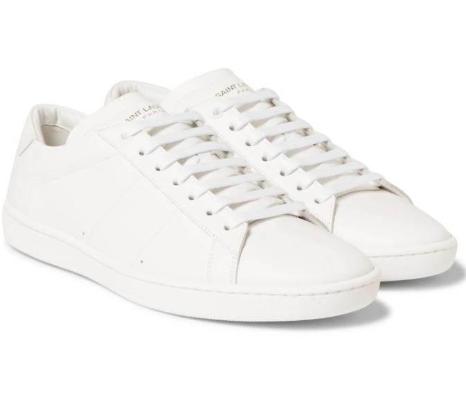 Saint Laurent Sl01 Leather Sneakers | HEWI