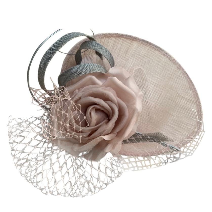 Jane Taylor Rose & Tulle Embellished Occasion Hat