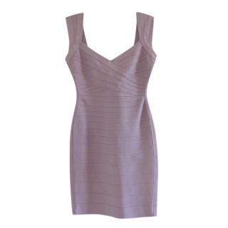 Herve Leger by Max Azria Lilac Bandage Mini Dress