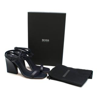 Boss Hugo Boss Kirstin Leather Sandals with Ankle Strap