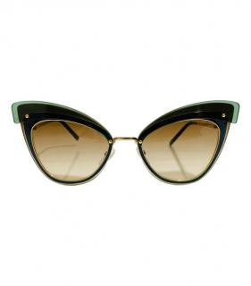 Marc Jacobs dark green cat eye sunglasses
