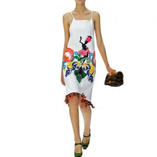 Prada embroidered embellished runway dress