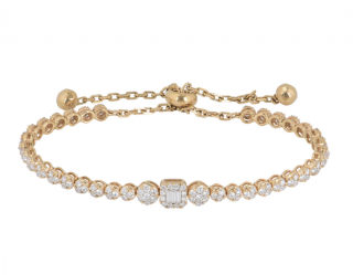 Bespoke Rose Gold Diamond Line Bracelet