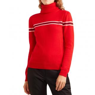 Perfect Moment Orelle striped wool turtleneck sweater