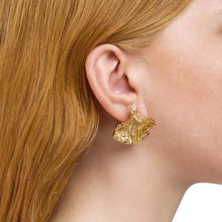 Aeyde Luna 18ct Gold Plated Earrings
