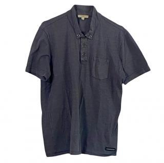Burberry Men's Grey Polo Shirt