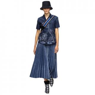 Dior pleated denim midi skirt - sold out