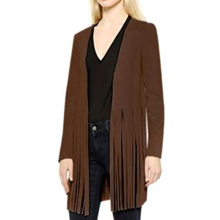 The Perfext by Elyse Walker tan suede fringed Christy jacket