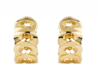 Cartier Yellow Gold C Loop Earrings